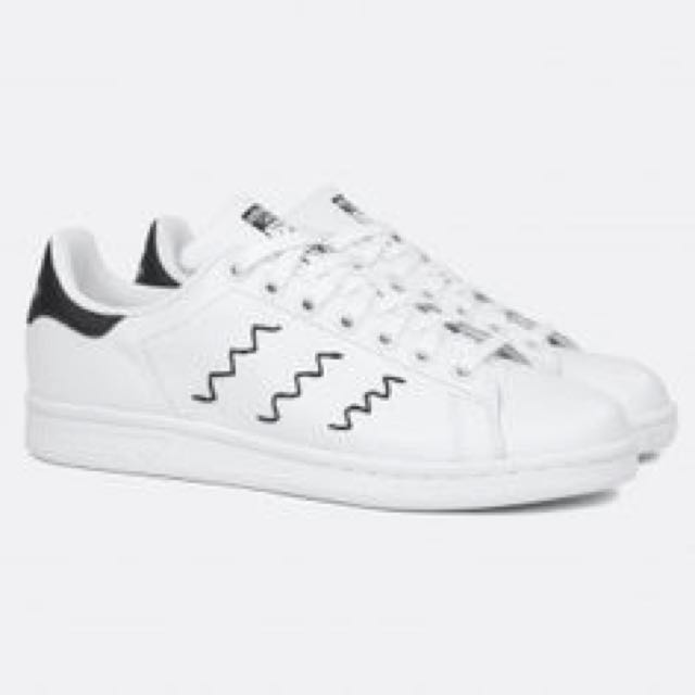 another chance 37221 2b55b adidas Originals Stan Smith W Zig Zag White Navy Leather ...