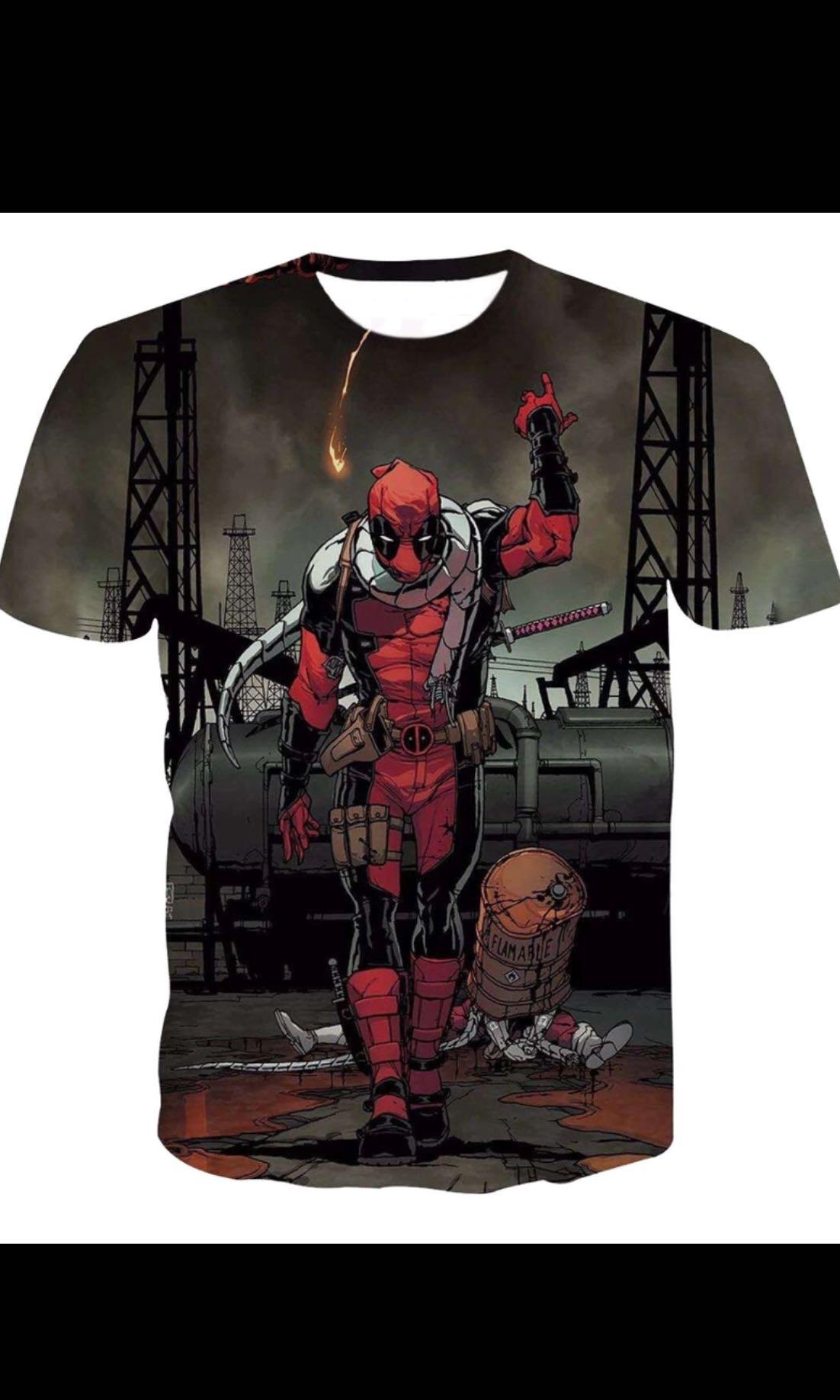 American Comic Badass Deadpool T Shirt Tees Men Women Cartoon