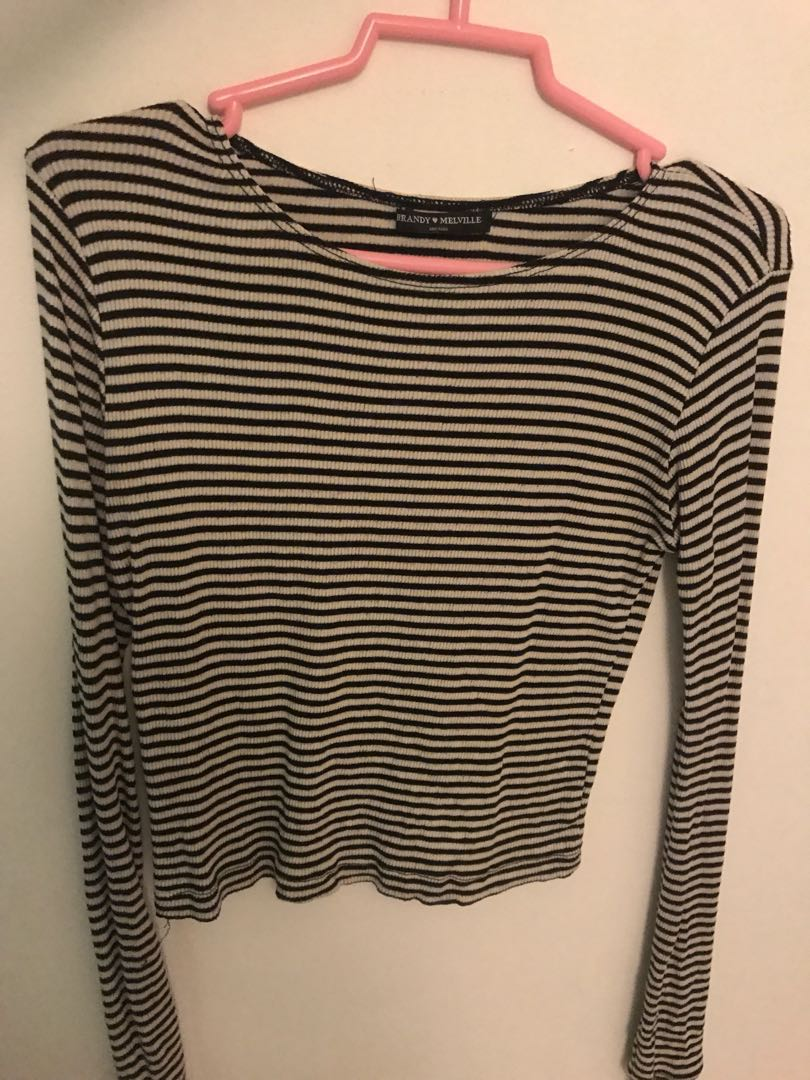 2febeb23190 AUTHENTIC Brandy Melville Striped Long Sleeve, Women's Fashion, Clothes,  Tops on Carousell