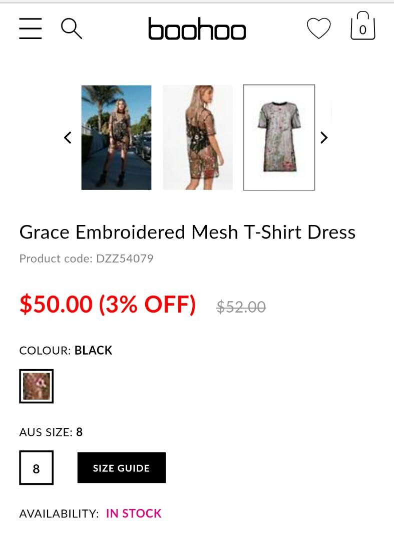 Boohoo Embroidered Mesh Dress