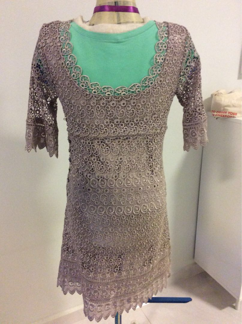 coast champagne coloured, fully lined dress