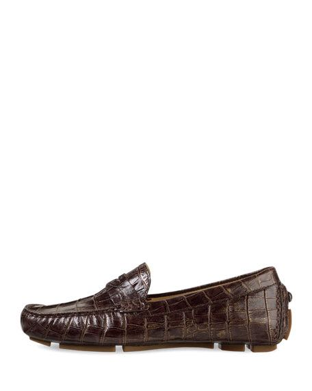 14c2c051503 Cole Haan Driving Loafers Alligator Skin look