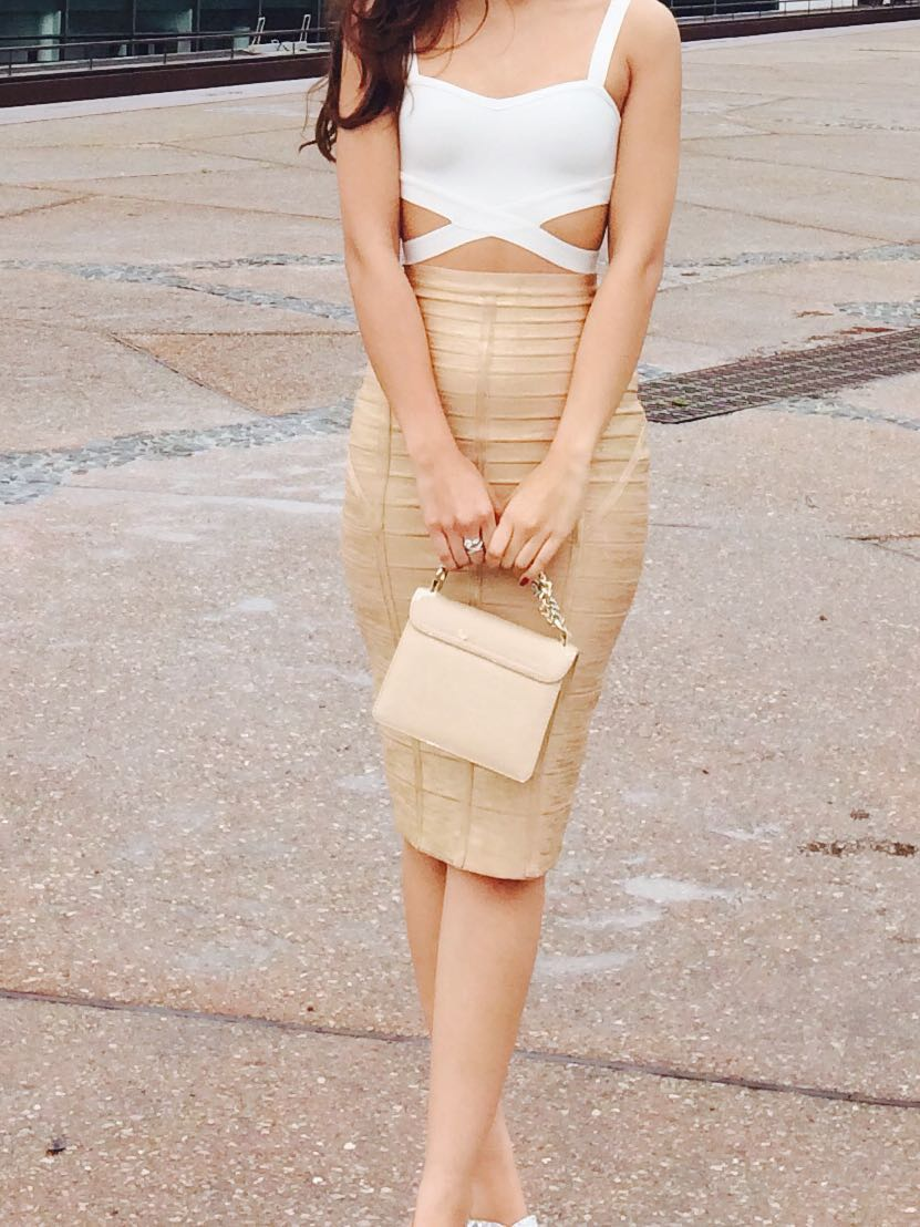 7f81f3874006 Crop top and bandage skirt, Women's Fashion, Clothes, Tops on Carousell