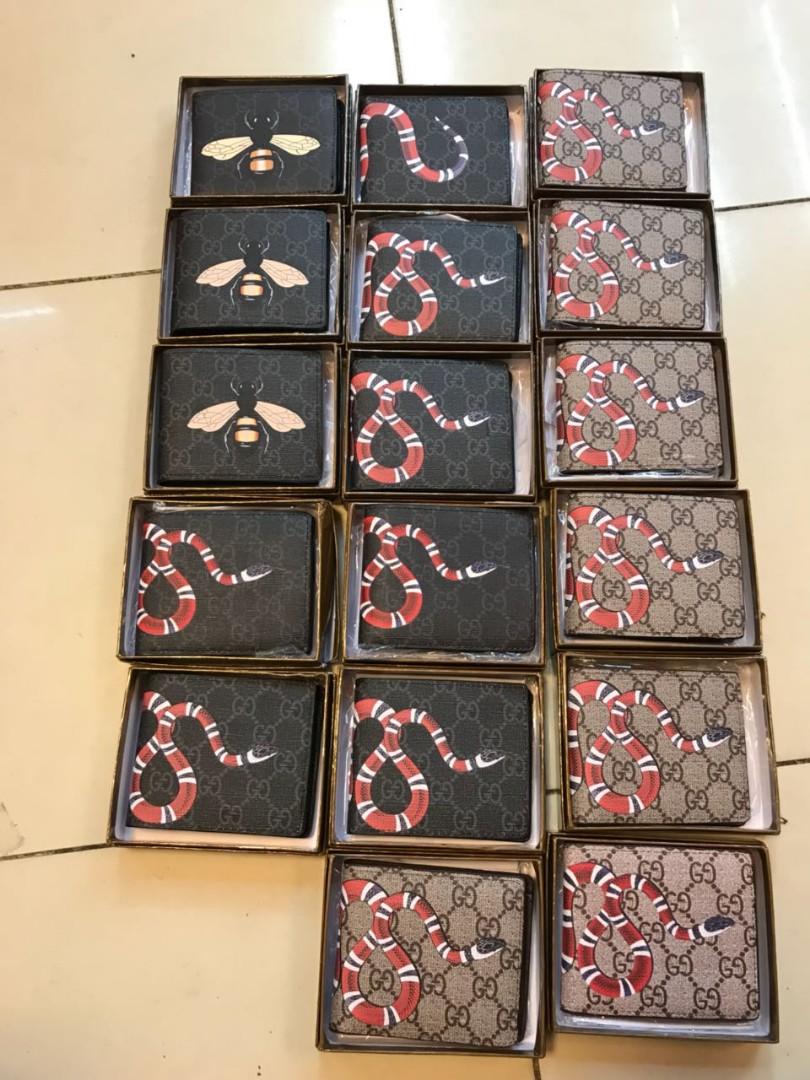 3c9f1296af1 Dompet Gucci Pria Print Snake