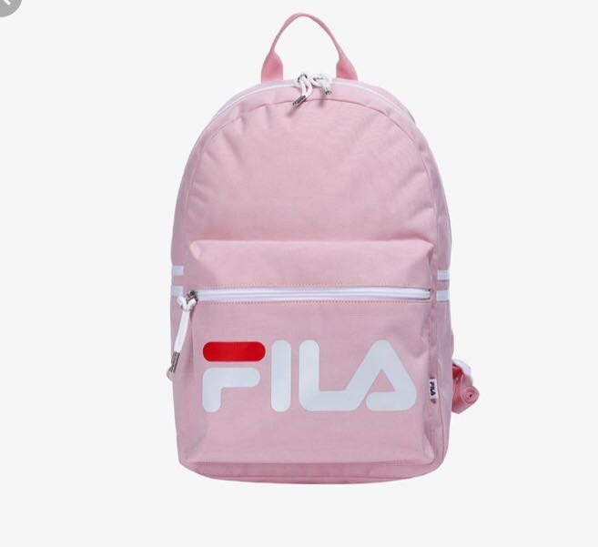 FILA Baby Pink Heritage Court Backpack Schoolbag BRAND NEW ...