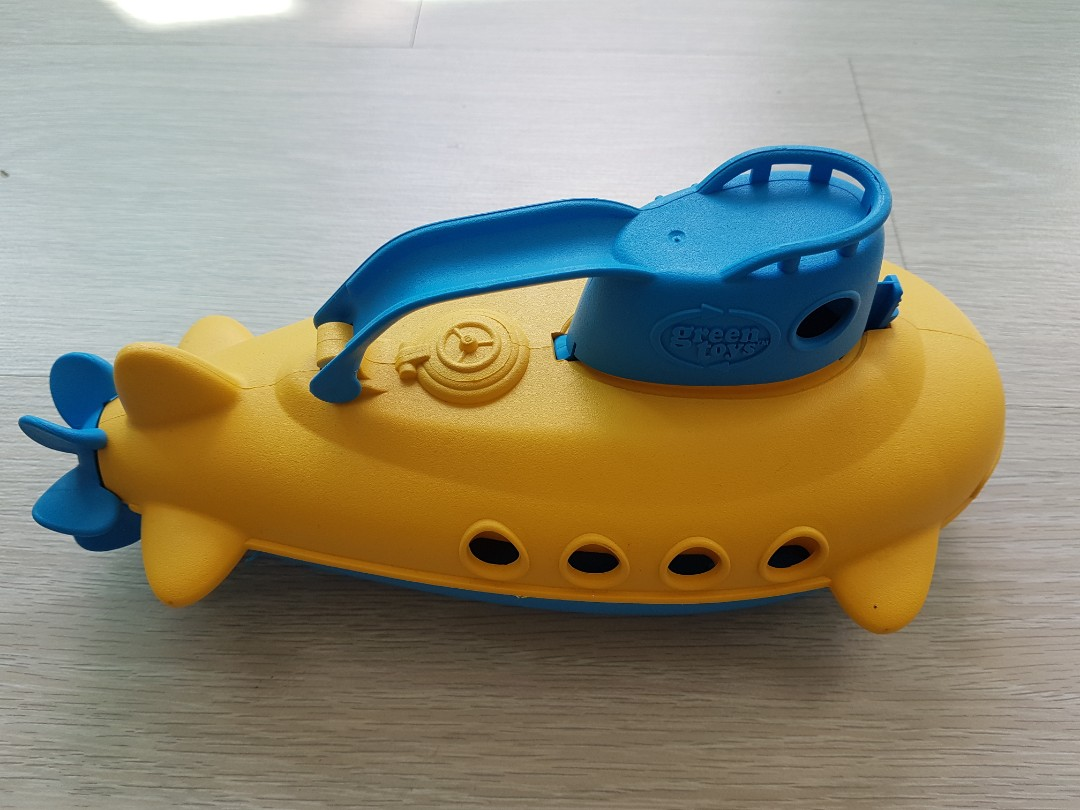Green Toys Yellow Submarine, Babies & Kids, Toys & Walkers on Carousell
