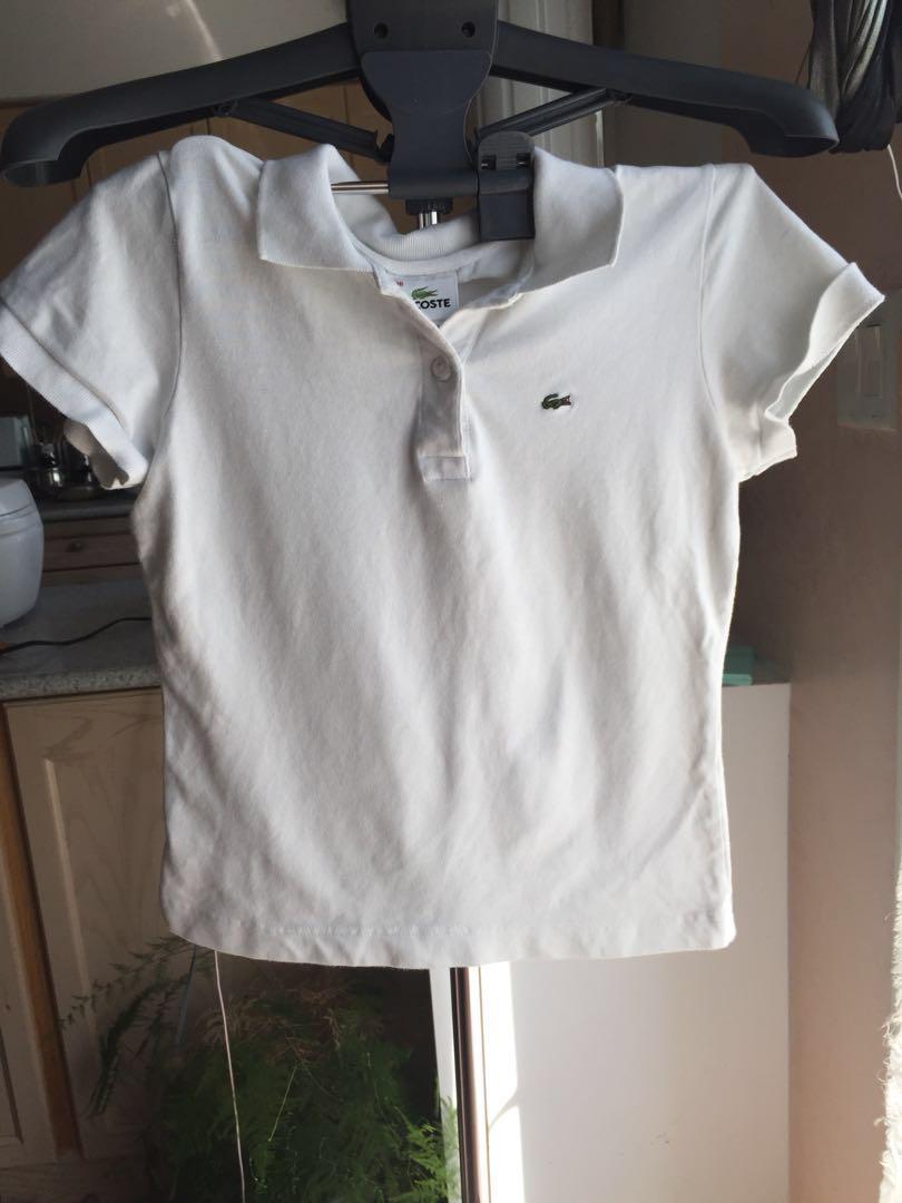 Lacoste White Collar Tshirt M
