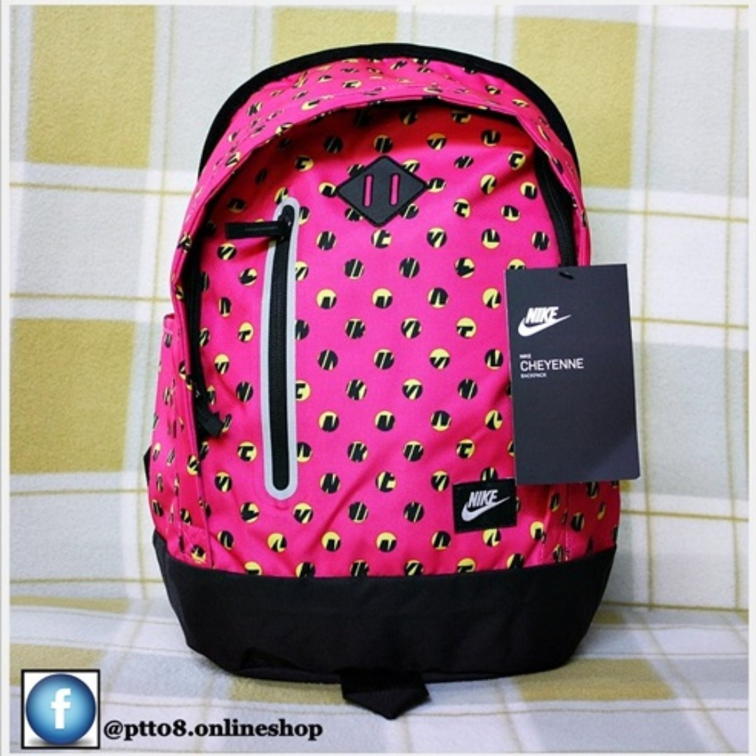 NIKE CHEYENNE BACKPACK BAG HOT PINK BLACK New with tags ab53577adc77c