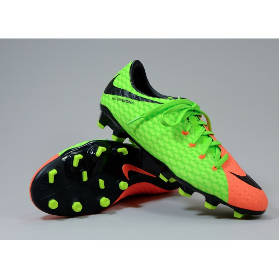 Nouvelles Arrivées 7bd8d e1231 Nike Football Boots Hypervenom FG Green Orange US 11, Sports ...