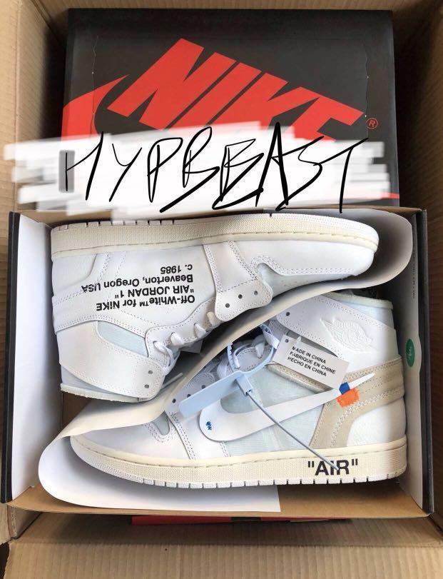 23d6bfaa7693f OFF–WHITE x Nike Air Jordan 1 💦