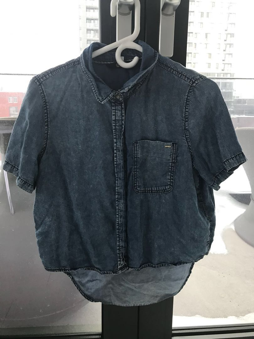 ONLY jean button up shirt (size 38)
