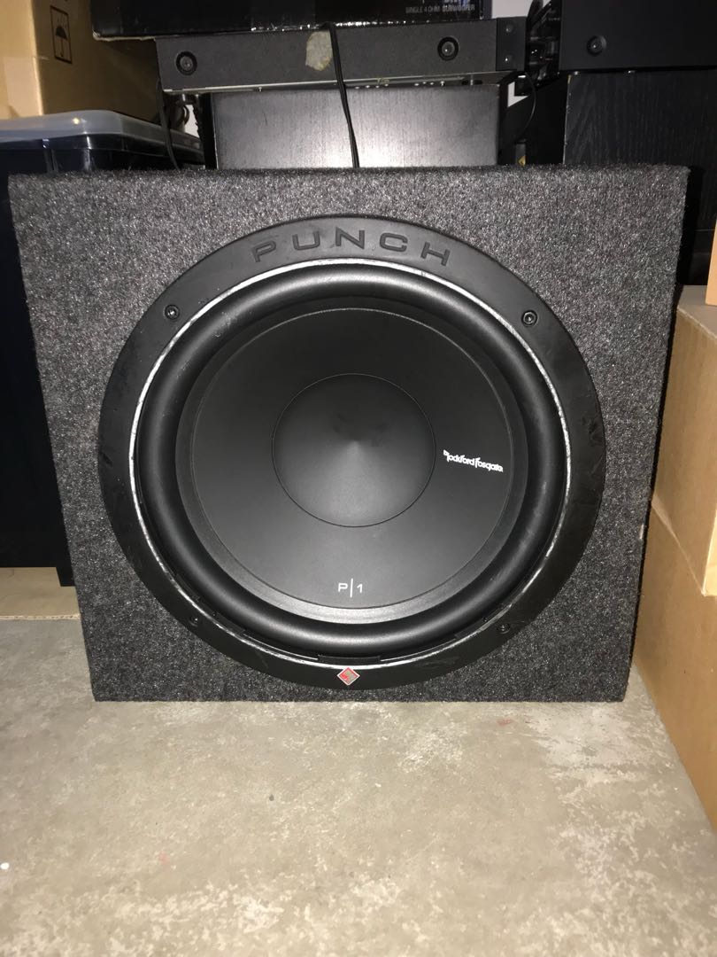 Rockford Fosgate P1 12 Subwoofer With Box Electronics Audio On Carousell