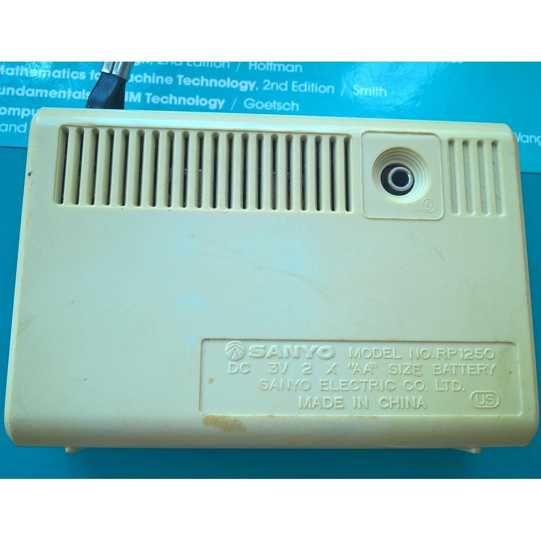 Vintage Sanyo RP 1250 AM Transistor Radio on Carousell