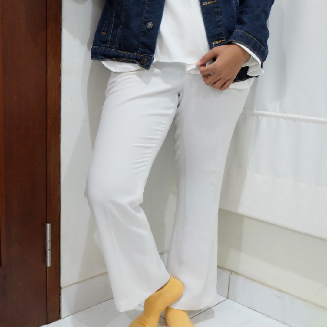 white satin pants