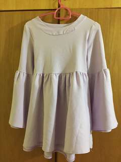 Blouse Purple Flowy