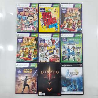 Xbox 360 Kinect/PC/PS2 Games
