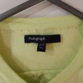 Autograph lime green cardigan