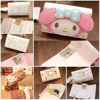 [PO] Hello Kitty / My Melody / Little Twin Stars Key Holder Purse / Pouch