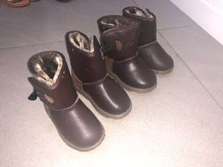 Brown boots for toddlers