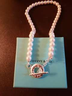 Tiffany Toggle Pearl Necklace