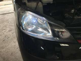 Change blub & wrap yellow fog light
