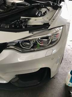 Head light tinting