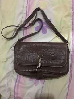 Sling bag leather vintage - Massimo Dutti