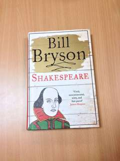 Shakespeare The World As A Stage Bill Bryson Hardback