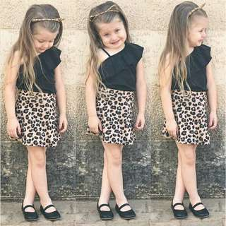 Outfit Set Kids Top Skirt Dress Sunsuit baby girl clothes Jumpsuit