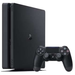 PS4 slim black 500gb with 1 controller