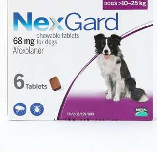 3 pack Nexgard for Dogs between 10-25kg