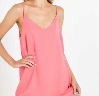 Coral Slip On Dress