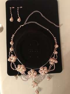珍珠頸鏈set