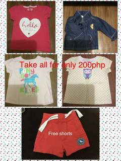 Baby's T-shirts and jacket take all