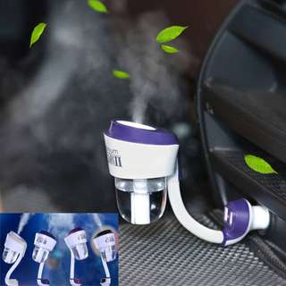 Air Fresh Purifier Dual USB Ultrasonic Mist Aroma Diffuser Mini Car Humidifier