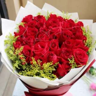 Red Roses Bouquet / Flower bouquet / mother's Day