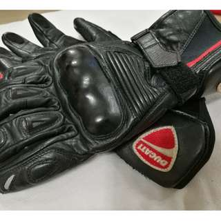Ducati Leather Riding Gloves