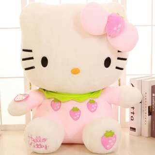 Soft Toy - Hello Kitty Strawberry - 30cm, 40cm, 50cm, 65cm, 80cm, 100cm