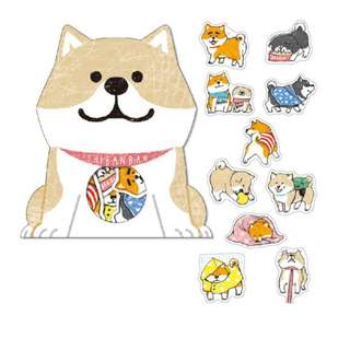 Only 1 Instock! (Mix & Match)*Mind Wave Japan - Shibanban Inu Stickers Pack (White)