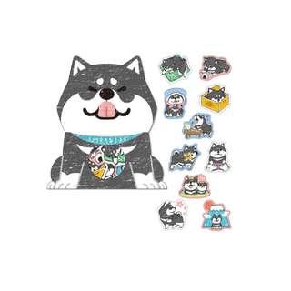 Only 2 Instock! (Mix & Match)*Mind Wave Japan - Shibanban Inu Stickers Pack (Black)