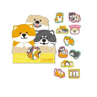 Only 2 Instock! (Mix & Match)*Mind Wave Japan - Shibanban Inu Stickers Pack (Trio)