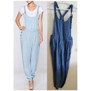 Dark demin Love actually Tencel Denim Jumpsuit romper in size S