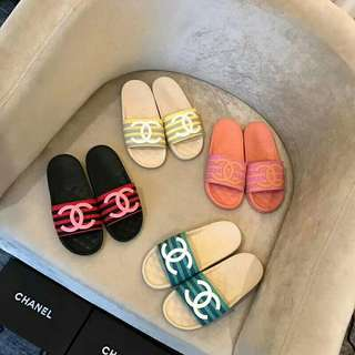 CHANEL SLIDER SLIPPERS