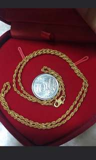 """👉COD avail👈 916 Gold Necklace Rope 16"""""""
