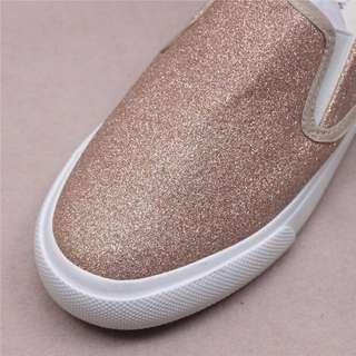 🚚 限量粉色🔶 OshareGirl 05 英單純色金屬亮面質感便鞋布鞋「請按下左下反藍 read more 有詳情」