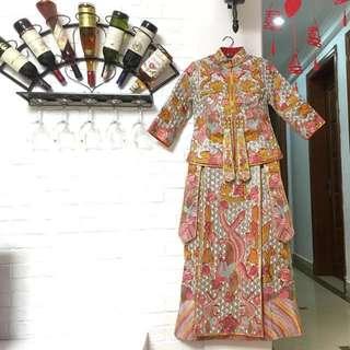 中式龍鳳褂敬酒服旗袍 劉詩詩同款
