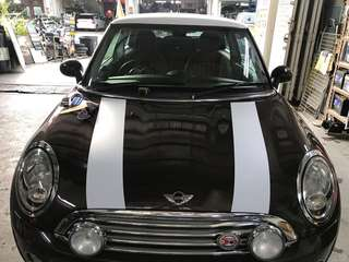 Customized racing stripes