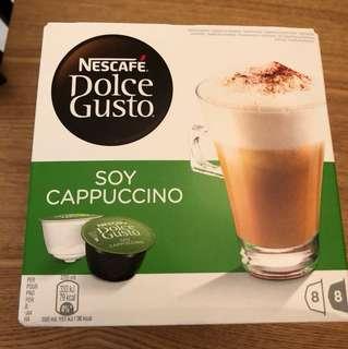 🚚 全新 雀巢 dolce gusto 咖啡膠囊 豆漿卡布奇諾 1盒