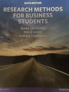 Research Methods for Business Students, 6th Edition