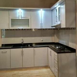 Kitchen set, lemari bawah tangga, lemari baju, panel TV dll